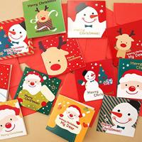 открытки, бумага, Рождественские украшения & разнообразный, 70x70mm, 48ПК/сумка, продается сумка