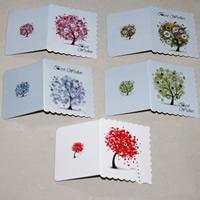 открытки, бумага, разнообразный, 70x80mm, 100ПК/сумка, продается сумка