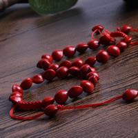деревянный Шамбала-браслет, с Нейлоновый шнурок, регулируемый, 6-8mm, длина:Приблизительно 7 дюймовый, 3пряди/сумка, продается сумка