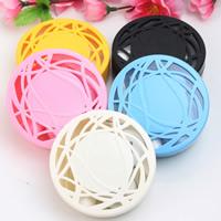 пластик Контактные линзы Case, с Стеклянный, Плоская круглая форма, разноцветный, 75x75x27mm, 5ПК/сумка, продается сумка