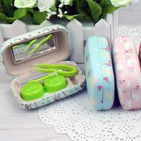 Искусственная кожа Контактные линзы Case, с Стеклянный & пластик, с вельвета покрытые & разнообразный, 83x55x22mm, 5ПК/сумка, продается сумка