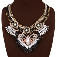 Мода себе ожерелье, цинковый сплав, с Нейлоновый шнурок & Кристаллы & канифоль, с 3.9nch наполнитель цепи, Другое покрытие, Женский & граненый & со стразами, не содержит никель, свинец, 90mm, Продан через Приблизительно 18.5 дюймовый Strand