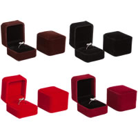 Velveteen Single Ring Box with Glue Film Rectangle 50x55x40mm 20PCs/Lot