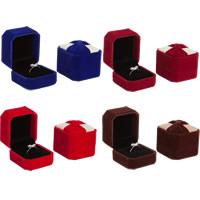Welwet Pojedyncze pudełko na pierścionek, ze klej Film, Prostokąt, dostępnych więcej kolorów, 50x55x40mm, 10komputery/wiele, sprzedane przez wiele