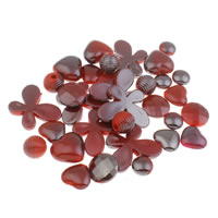 Solid Color Acrylic Beads, UV plating, red, 6mm-43x47x6mm, Hole:Approx 1-5mm, Approx 200PCs/Bag, Sold By Bag