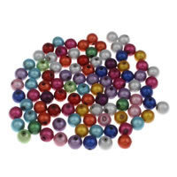 Clearance Acrylic Beads, Round, different size for choice & miracle, mixed colors, Hole:Approx 1mm, 100PCs/Bag, Sold By Bag