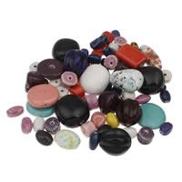 Przeszklone porcelanowe koraliki, Porcelana, Szkliwione, mieszane, 10x6mm-20x30x5mm, otwór:około 1-4mm, około 190komputery/KG, sprzedane przez KG