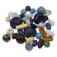 Przeszklone porcelanowe koraliki, Porcelana, Szkliwione, mieszane, 15x6-33x12mm, otwór:około 1-4mm, około 170komputery/KG, sprzedane przez KG