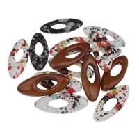 Porcelanowe koraliki, Porcelana, mieszane, 25x60x10mm, otwór:około 1mm, 10komputery/torba, sprzedane przez torba