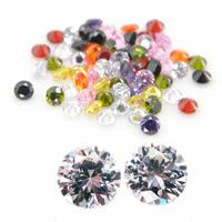 Кабошоны из циркония, кубический цирконий, Круглая, разный размер для выбора & острый конец, разноцветный, продается Лот