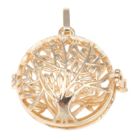 Pregnant Ball Locket Pendant, Brass, Flat Round, gold color plated, hollow, nickel, lead & cadmium free, 35x33x15mm, Hole:Approx 5x10mm, Sold By PC