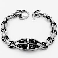 Men Bracelet, Titanium Steel, oval chain & for man & blacken, 13mm, Sold Per Approx 8.2 Inch Strand