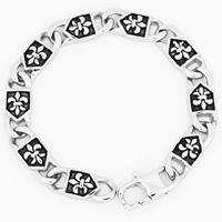 Men Bracelet, Titanium Steel, for man & blacken, 9mm, Sold Per Approx 9.2 Inch Strand