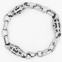 Men Bracelet, Titanium Steel, for man & hollow & blacken, 12mm, Sold Per Approx 9.2 Inch Strand