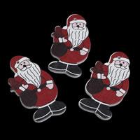 Деревянные Подвески, деревянный, Санта Клаус, принт, Рождественские украшения, 26x48x2mm, отверстие:Приблизительно 1mm, 1000ПК/сумка, продается сумка