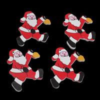 Деревянные Подвески, деревянный, Санта Клаус, принт, Рождественские украшения, 30x39x2mm, отверстие:Приблизительно 1mm, 1000ПК/сумка, продается сумка