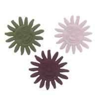 Аксессуары для волос DIY Результаты, цинковый сплав, солнце, Спрей картины, Много цветов для выбора, не содержит свинец и кадмий, 18x6mm, отверстие:Приблизительно 5mm, 100ПК/сумка, продается сумка