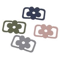 Flower Zinc Alloy Connector painted 1/1 loop lead   cadmium free 23x14x1.50mm Hole:Approx 8x2mm 100PCs/Bag