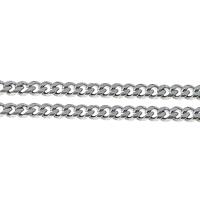 Łańcucha krawężnika ze stali nierdzewnej, Stal nierdzewna, łańcucha krawężnika, oryginalny kolor, 7.50x2mm, 10m/wiele, sprzedane przez wiele