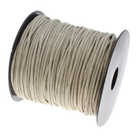 Wax Cord Waxed Cotton Cord with plastic spool beige 2mm