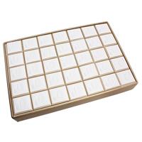 Kartonowe pudełko na pierścienie, Tektura, wisiorek & Pierścień, Prostokąt, 350x240x50mm, sprzedane przez PC
