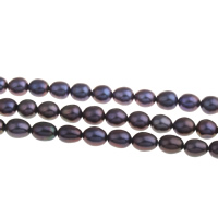 Rice Cultured Freshwater Pearl Beads, green, Grade A, 7-8mm, Hole:Approx 0.8mm, Sold Per 15 Inch Strand