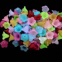 الاكريليك الخرز متجمد, أكريليك, زهرة, الألوان المختلطة, 12-14mm, حفرة:تقريبا 1-2mm, 100أجهزة الكمبيوتر/حقيبة, تباع بواسطة حقيبة