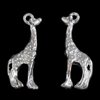 Zinc Alloy Animal Pendants, Deer, silver color plated, lead & cadmium free, 7x20x3mm, Hole:Approx 1mm, Sold By PC
