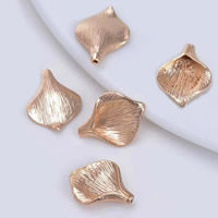 24K Gold Beads, Brass, Ginkgo Leaf, 24K gold plated, lead & cadmium free, 13.5x17.5mm, Hole:Approx 1-2mm, 20PCs/Bag, Sold By Bag