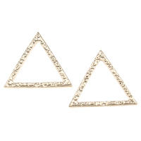Zinc Alloy Linking Ring Triangle gold color plated lead   cadmium free 21x18.50x1mm Hole:Approx 14mm 200PCs/Bag