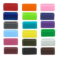 Silicone Retainer Buckle Holder, Rectangle, more colors for choice, Sold By PC