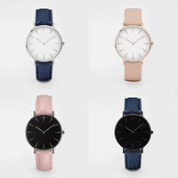 Unisex Wrist Watch, PU, with zinc alloy dial & Glass, stainless steel pin buckle, plated, adjustable & different styles for choice, Length:Approx 9.8 Inch, Sold By PC