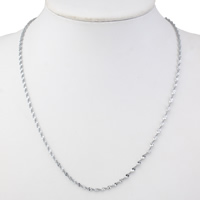 Stainless Steel Chain Necklace original color 2.5mm Sold Per Approx 17 Inch Strand