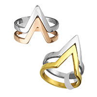 Stainless Steel Finger Ring plated for woman 18.50mm