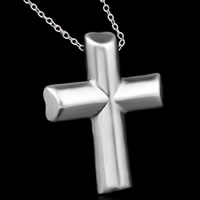Krzyż wisiorki mosiądz, Platerowane prawdziwym srebrem, 925 logo, bez zawartości ołowiu i kadmu, 23x28mm, otwór:około 3-5mm, 10komputery/torba, sprzedane przez torba