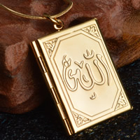 Brass Locket Pendants Rectangle real gold plated with 925 logo lead   cadmium free 28x35mm Hole:Approx 3-5mm 10PCs/Bag