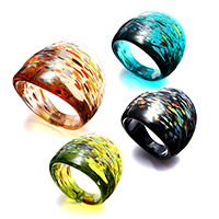 Lampwork Finger Ring for woman   gold sand mixed colors 23.50mm US Ring Size:7.5 4PCs/Lot
