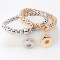 Snap Button Bracelet, Zinc Alloy, plated, for woman, more colors for choice, lead & cadmium free, 18mm, Inner Diameter:Approx 6mm, Sold Per Approx 7 Inch Strand