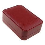 PU Pudełko na wisiorki, ze Tektura & Welwet, Prostokąt, czerwony, 101x71x35mm, sprzedane przez PC