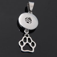 Snap Button Pendant, Zinc Alloy, Footprint, plated, lead & cadmium free, 18mm, Hole:Approx 3-5mm, Inner Diameter:Approx 6mm, Sold By PC