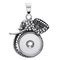 Kawałek przycisk wisiorek, Stop cynku, Ganesha, Platerowane kolorem starego srebra, z kamieniem, bez zawartości ołowiu i kadmu, 18mm, otwór:około 3-5mm, średnica wewnętrzna:około 6mm, sprzedane przez PC
