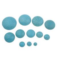 Синтетическая бирюза кабошон, Плоская круглая форма, разный размер для выбора & плоской задней панелью, голубой, продается сумка