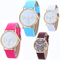 Women Wrist Watch, PU, with Glass & Zinc Alloy, plated, adjustable & for woman, more colors for choice, nickel, lead & cadmium free, 34x7mm, Length:Approx 9.4 Inch, Sold By PC