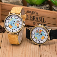Unisex Wrist Watch, Canvas, with Glass & Zinc Alloy, plated, more colors for choice, Length:Approx 9.4 Inch, 5PCs/Lot, Sold By Lot