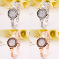 Women Wrist Watch, Zinc Alloy, with Glass, plated, for woman & with rhinestone, more colors for choice, Length:Approx 9.4 Inch, 2PCs/Lot, Sold By Lot