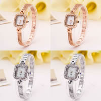 Women Wrist Watch, Zinc Alloy, with Glass, plated, for woman & with rhinestone, more colors for choice, Length:Approx 9.4 Inch, 5PCs/Lot, Sold By Lot