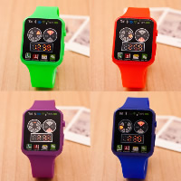 Unisex Wrist Watch, Silicone, with Plastic, zinc alloy pin buckle, plated, LED, more colors for choice, Length:Approx 9.4 Inch, 5PCs/Lot, Sold By Lot