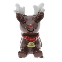 Рождественские Кабошоны, канифоль, Рождественские олени, Рождественские украшения, 16x24x13mm, 100ПК/сумка, продается сумка