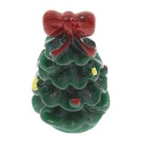 Рождественские Кабошоны, канифоль, Рождественская елка, Рождественские украшения & плоской задней панелью, 13x22mm, 100ПК/сумка, продается сумка