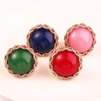 Resin Finger Ring Zinc Alloy with Resin gold color plated for woman   with rhinestone nickel lead   cadmium free 3PCs/Lot
